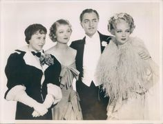 Louise Rainer, Myrna Loy, William Powell & Virginia Bruce