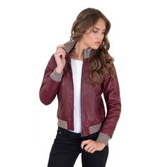 Amazing!!! Men's Leather Jac.... Only in Merkantfy! http://merkantfy.com/products/mens-leather-jacket-with-central-zip-red-purple-color-g155?utm_campaign=social_autopilot&utm_source=pin&utm_medium=pin