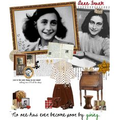 Anne Frank..., created by miss-book-lover on Polyvore