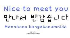 kimbapnoona:  Okay so this is a more polite/formal way of saying 'nice to meet you' than the previous post 'mannaseo bangaweoyo'. And the 'mannaseo' isn't necessary - it's still polite saying just 'bangabseumnida'.  *recommendation from eggxdrop-soup :)