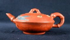 Old Chinese Zi Sha Teapot Late-19th C.