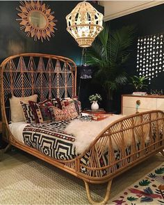 Boho home interior design to inspire you in creating a beautiful and cozy home that reflects your creativity. // boho home interior living rooms / Bohemian House decor diy / Bohemian House decor apartment therapy / dream bedroom ideas for women Interior Design, Home, Interior, Eclectic Interior Design, Retro Home Decor, Bedroom Design, Home Bedroom, Remodel Bedroom, Home Decor