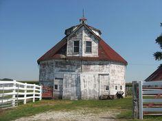 George Rudicel Polygonal Barn in Shelby County, Indiana