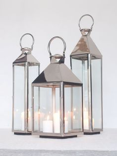 Big Stainless Steel Lanterns, Extra Large Floor Candle Lanterns & Tall Indoor Lanterns, perfect for indoor or outdoor use. Our stainless steel candle holders are so popular. Large Candle Lanterns, Indoor Lanterns, Storm Lantern, Silver Lanterns, Large Candles, Lanterns Decor, Large Outdoor Lanterns, Decorative Lanterns, Home Decor Accessories