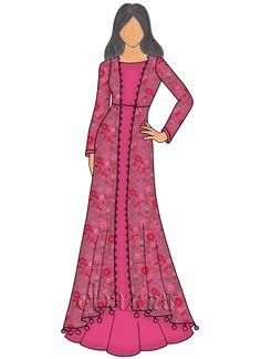 Indo Western Outfits: Buy Indo Western Dresses For Women Fashion Design Drawings, Fashion Sketches, Net Dress Design, Indian Dresses, Net Dresses, Illustration Mode, Illustrations, Indowestern Gowns, Western Dresses For Women