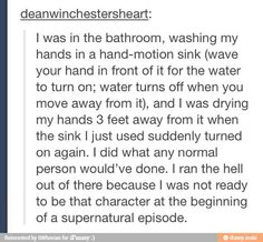 no one wants to be that person in the beginning of a supernatural episode