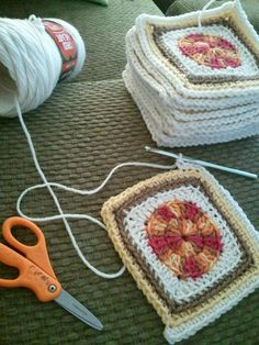 "Granny squares that don't look so ""Granny"" :) Nice"