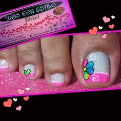 En honor a una nena que trabaja super Cute Pedicures, Pedicure Nails, Toenails, Manicure, Pedicure Designs, Toe Nail Designs, Beauty Hacks Nails, Toe Nail Art, Nail Art Galleries