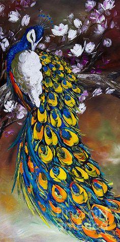Peacock Prints #Peacock #Painting #Paintings
