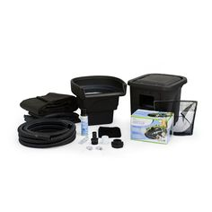 Get everything you need to create a backyard pond with this Aquascape DIY pond kit. Create your own pond with the all-in-one package that includes items needed for the pond base, cleaning system and i