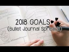 2018 Goals/New Years Resolution Bullet Journal Spreads/Ideas | Doodles by Sarah - YouTube