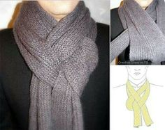 15 ways to transform your scarf in 7 minutes. Ways To Wear A Scarf, How To Wear Scarves, Tie Scarves, Look Fashion, Fashion Beauty, Fashion Tips, Winter Fashion, Scarf Knots, Scarf Styles