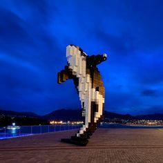 Pixel Orca Scultpure