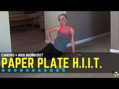 Low Impact Cardio + Abs Paper Plate HIIT - Quick and Quiet at-Home Workout - YouTube