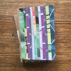 04/52 52 week project hand made one-of-a-kind paper collaged pocket notebook by roughdrAftbooks on Etsy