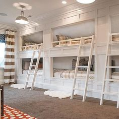 Talk about bunk room bliss! Can you imagine what this space would feel like as a child? Wonderful & magical design by @meagan_rae_interiors. | Via Instagram: @Scoutandnimble