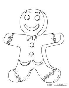 Desenho do biscoito de gengibre para colorir online