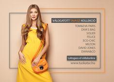 Tavaszi kollekció a TáskaTár oldalán! Válogass kedvedre klasszikusabb vagy merészebb színű táskáink széles válogatott kínálatából. David Jones, Diana, One Shoulder, Shoulder Dress, Dresses, Fashion, Vestidos, Moda, Fashion Styles