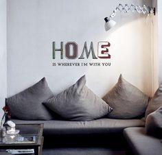 """Adesivo de Texto """"Home"""", by I-Stick"""