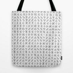 triangle mosaic black and white.. Tote Bag by studiomarshallarts - $22.00