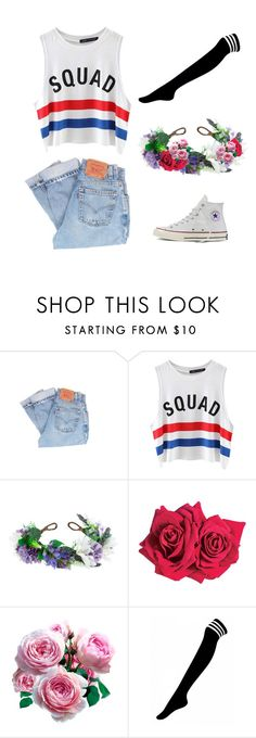 """""""Squad Goals"""" by evelynlikescoffee ❤ liked on Polyvore featuring Levi's, Chicnova Fashion, Rock 'N Rose, Avon, Converse, squad, squadgoals and rubenscollection"""