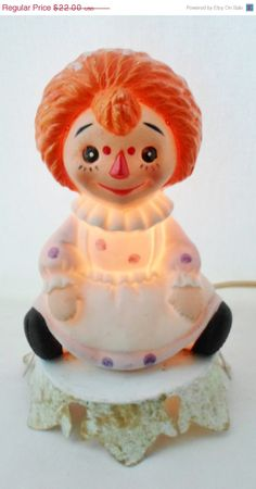 Holiday Sale Vintage Raggedy Ann Ceramic by DebscountryVintage, $18.70