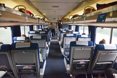 Coach Seating on Amtrak. Did this to New Orleans. Not luxurious , but I loved all the scenery. Wish we had taken a sleeper car though.