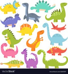 Cute cartoon dinosaurs vector by KitVector on Cartoon Cartoon, Cartoon Dinosaur, Cute Dinosaur, Cartoon Characters, Dinosaur Pics, Dinosaur Cookies, Dinosaur Drawing, Funny Monsters, Dinosaur Birthday Party
