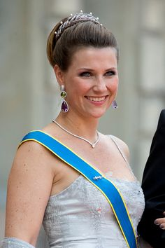 Princess Martha Louise of Norway, arrives at The Royal Chapel, at The Royal Palace in Stockholm for The Wedding of Prince Carl Philip of Sweden and Sofia Hellqvist on June 13, 2015 in Stockholm, Sweden.