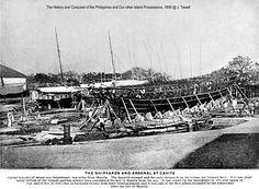 Spanish ship building, Cavite, Philippines, before 1899 Philippines, Paris Skyline, Spanish, Louvre, Ship, Island, History, World, Street