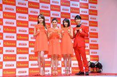 (左から)松井愛莉、土屋太鳳、広瀬すず、羽生結弦【写真:竹内みちまろ】