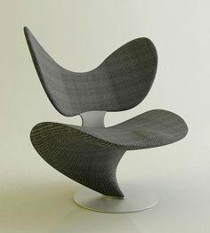 Roberto Pennetta armchair Des courbes des ellipses très design pour cette chaise fauteuil