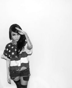 Hot,American flag,Black and white - inspiring picture on PicShip.com