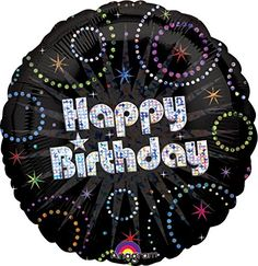 Foil A Time to Party Prismatic Happy Birthday Balloon - Party City Party City Balloons, Mylar Balloons, Latex Balloons, Balloon Party, Happy Birthday Logo, Happy Birthday Balloons, Globos Mylar, Birthday Accessories