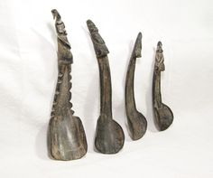 Currently at the #Catawiki auctions: Set of 4 horn spoons - Atoni - West Timor - Indonesia