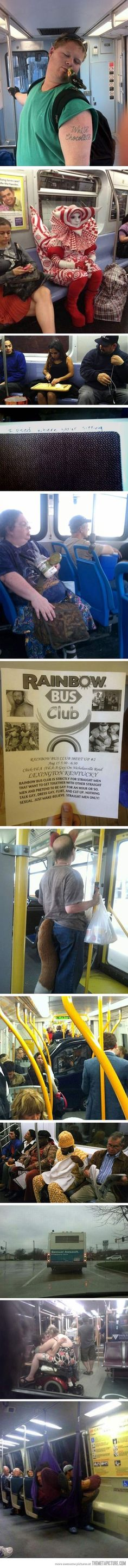 Reasons to avoid public transportation…I feel like I've seen all of these on the bus in Athens.