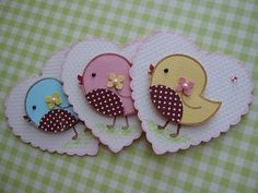 card decorations: Sweet n Cute Bird Embellishments by vsroses.com ...