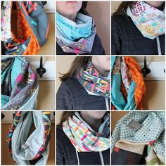 Love these infinity scarves made with 'Washi'.