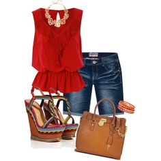 bermuda shorts with wedges by julsan on Polyvore