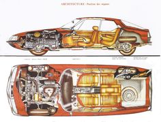 Citroen SM Cutaway Diagrams   The Car Hobby