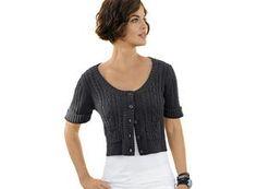Alba Moda Damen Strickjacke, braun, Halblange Ärmel mit Aufschlag