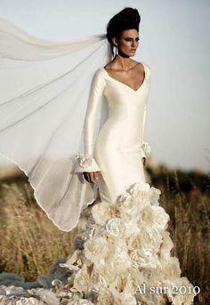 Свадебное платье фолк