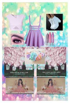 """Pastel; In The Style Of Melanie Martinez"" by punkrock-unicorn ❤ liked on Polyvore"