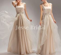 Hey, I found this really awesome Etsy listing at http://www.etsy.com/listing/155287165/a-line-champagne-organza-bridesmaid