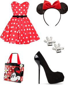 """Becky G's Halloween Outfit! Minnie Mouse"" by montanaaisgro on Polyvore"