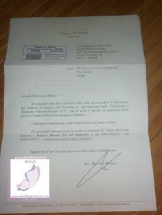 """Un sentito ringraziamento al Sindaco di Padova Dr. Massimo Bitonci,all'Assessore ai Servizi Sociali Dr.ssa Vera Sodero e a tutta l'Amministrazione padovana per il patrocinio e il sostegno dimostratoci in occasione del Nostro evento informativo del 23 settembre scorso """"#Vulvodinia e dolore pelvico"""" ! #NoiCiCrediAmo!"""