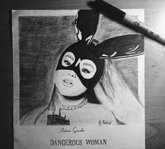 Dangerous Woman Art  what do U think?  #ArianaGrande #Draw#Drawing#Idea#Love#Like#DIY#Artist#Sketch#Dangerouswoman