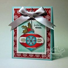 Stampin' Up! Christmas Bauble - beautiful coloring. Would make an awesome thank you for someone special.