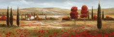 Tuscan Poppies II Posters by Nan at AllPosters.com