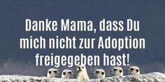 """Die schönsten Muttertagssprüche: """"Danke Mama, dass Du  mich nicht zur Adoption  freigegeben hast!"""""""